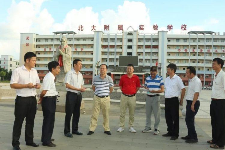 麻章区教育局郑局长到湛江北附检查开学工作