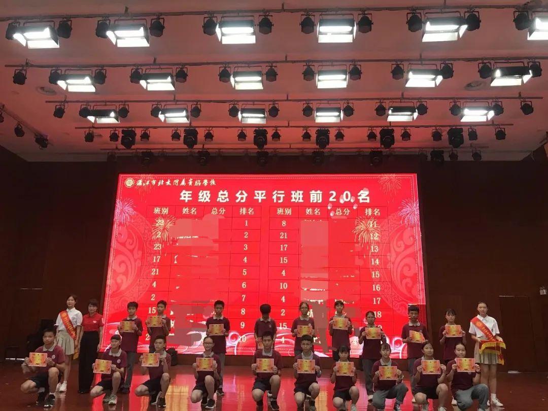 湛江北附:树榜样力量,促共同进步——记七年级第二学期期中表彰大会